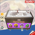 High profits and low investment stainless steel automatic fruit yogurt fry pan ice cream machine