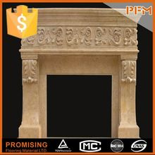 Customized design natural marble sandstone limestone fireplace hearth mantel