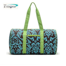 promotion wholesale green recycled travel duffel bag with green handle
