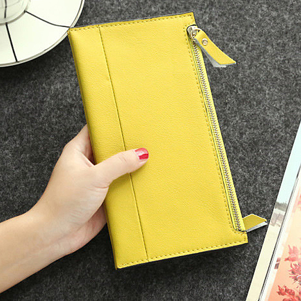 H172 factory wholesale price leather passport wallet women clutches handmade purse