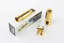 Alto Mouthpiece Gold Plated Mouthpiece Metal Sax Mouthpiece with Size 5-13