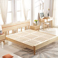 Hot sale solid oak wood double bed design furniture