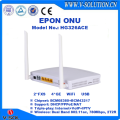 RoHS Optical FTTH Fiber GEPON 4GE 2POTS 1USB 802.11AC 2T2R 5GHz WiFi ONU with Dual Antenna