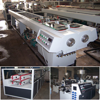pvc single layer double pipes extruder line