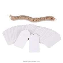 Free Shipping White Kraft Paper Gift Tags Scallop Label Luggage <strong>Wedding</strong> Blank + Strings
