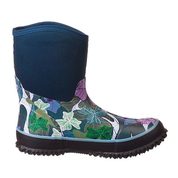 10'' Women's Mid-cut Waterproof Flower Pattern Fashion Boot