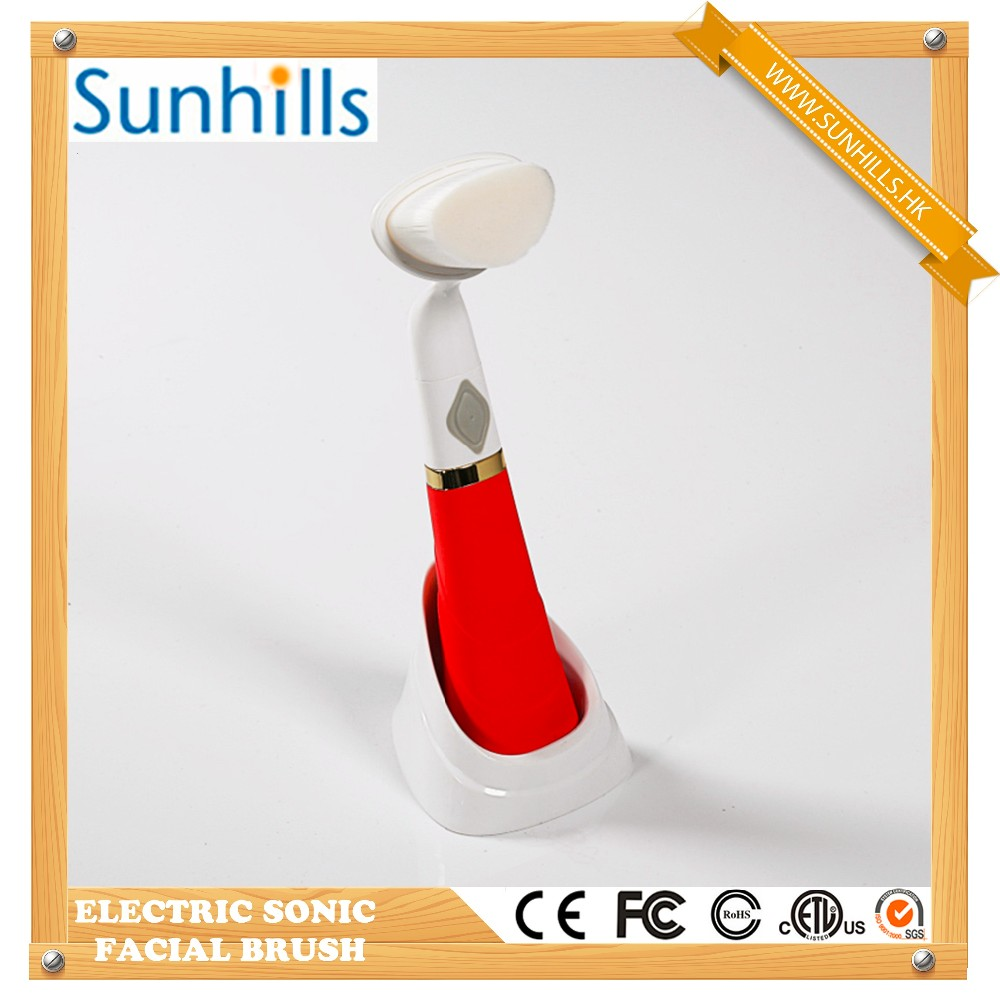 Good quality High Frequency Cleansing Brush electric sonic silicone rotary pobling facial cleaning brush as seen on tv