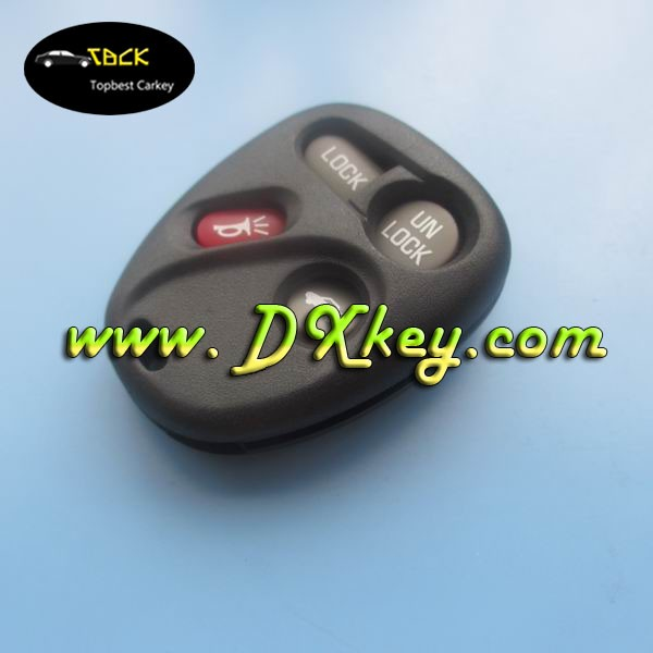 3+1 buttons remote case with battery hold car key blank silicone key case replacement car keys for GM