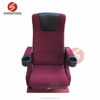 red movie theater cinema seat PU cinema chair for sale