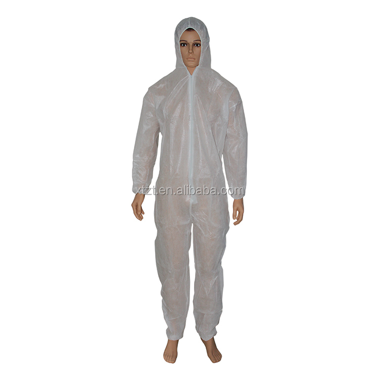 CE FDA approved disposable breathable coverall type 5 type 6 with hood without boot