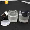 Wholesale triangle shape Custom Fancy 50ml glass cosmetic jar with lid