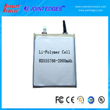 5C Li-polymer Rechargeable battery cells 3.7V 550mAh