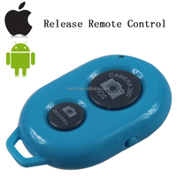 Blue colour mini bluetooth Shutter Release Remote Control for ISO and android