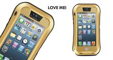 For iphone 5 5s Love mei Waterproof Shockproof Snowproof Powerful Rugged Small Waist Metal Aluminum cover Case