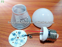 Aluminium LED light bulb heat sink/LED housing