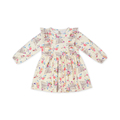 2018 Fashionable Spring Long Sleeve With Round Neck Flower Kid Clothing Girls For Party Dresses Fancy Dress For Baby Girl