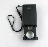 LED Jewellery Loupe/jewelry magnifying lens/plastic magnifying lens
