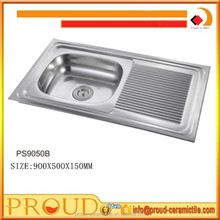 Used Restaurant Commercial Stainless Steel Kitchen Sinks for Sale 900x500x150MM
