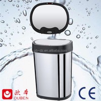 fancy galvanized stainless steel cartoon trash can(GYT30-5B-S)