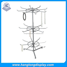 glass jewelry 3 tier cosmetic display table