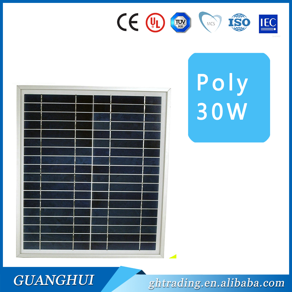 30W 40W 50W 60W little power high efficiency poly solar panel with wholesale poly solar panel