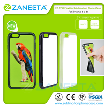 NO MOQ 2D silicon flexible sublimation phone cover for iPhone 6/6s | full TPU soft phone case for iphone 6/6s