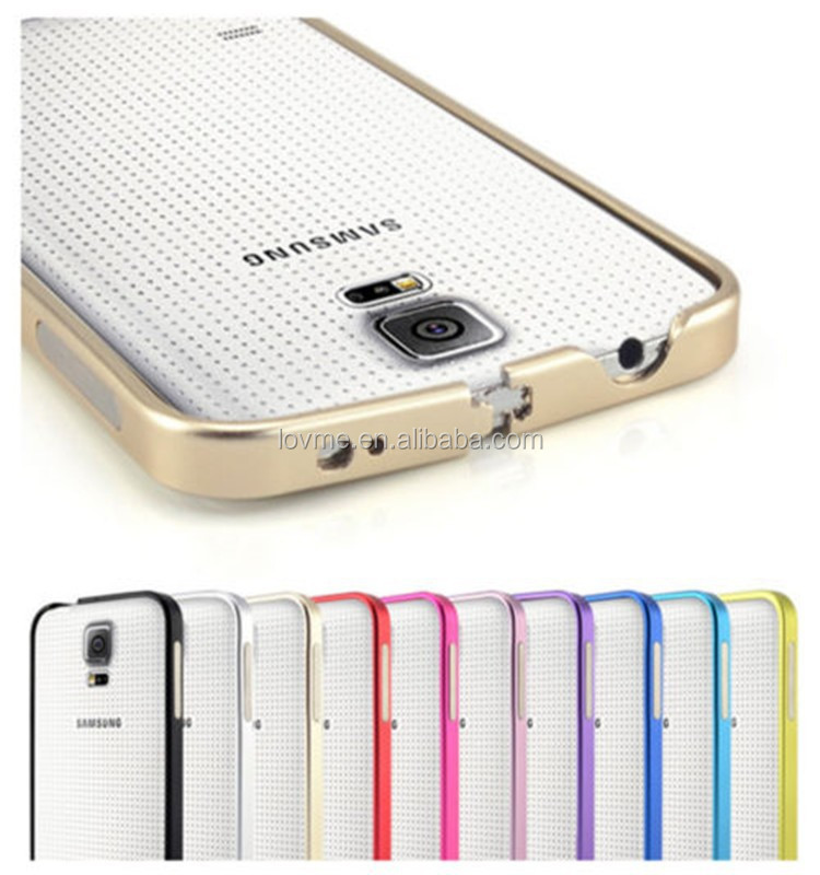 Ultra Thin Metal Aluminum Frame Bumper Case For Samsung Galaxy S5 i9600