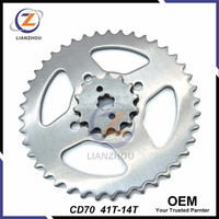 OEM CD70 Chain Sprocket for Honda Motorcycle Spare Parts
