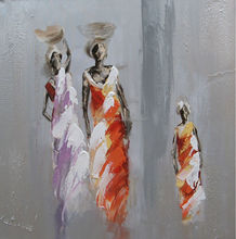 Handmade abstract african women oil painting With Wooden Frames