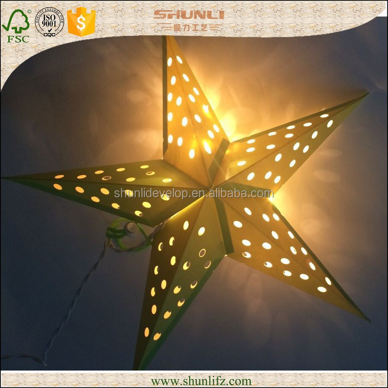2015 promotional decoration outdoor christmas star lights