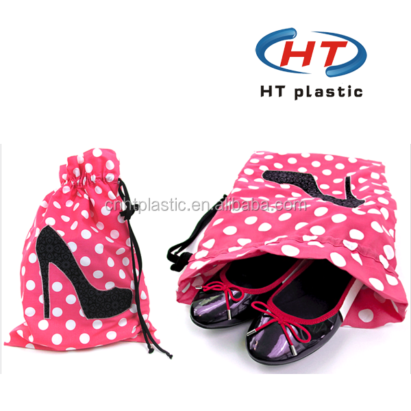 2015 Hot Sales For Promotion Customized Logo Nylon Polyester Soccer Drawstring Shoe Bag