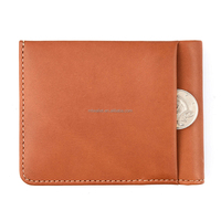 Italy vegetable tanned leather men's wallet