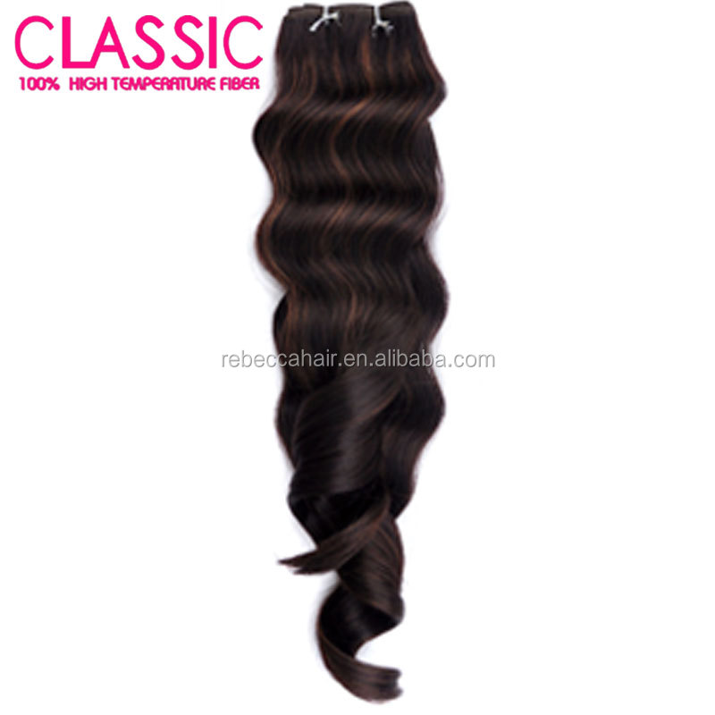 Rebecca Hair Extension Type Wholesale Synthetic Hair Material Synthetic Hair Weave For Sale