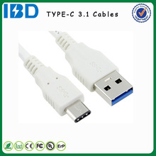 2015 Newest datas, IBD promotion USB 3.1 type c cable 24 pin 1m smart phone data for Apple MackBook