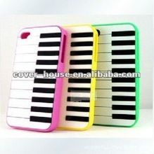 silicone piano keyboard case for iphone 4/4S,colors available