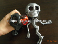 Halloween decoration small plastic stress & stretchy skeleton toys