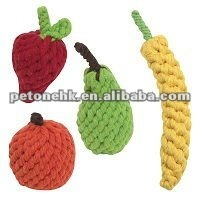 Rope Fruit dog toy
