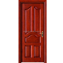 Hot sale single or double Soild Wooden Interior Door/solid bedroom door