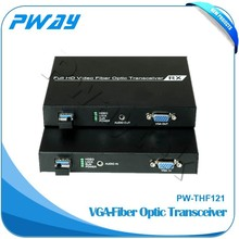 Hot swappable hf radio transceiver and receiver up to 10km vga fiber transmitter