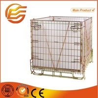 Steel collapsible metal storage cages with wheels