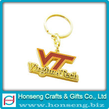 High Quality Custom Metal Souvenir Alphabet Key Chain