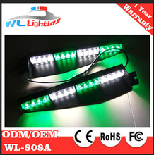 Tir 32 LED Green White Visor Light Emergency Led Strobe Lights Split Mount Deck Dash LED Lightbar