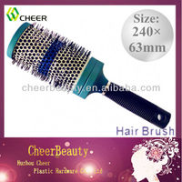 ABS plastic hair brushes HB090/rotating hair brush/brush hair