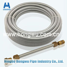 stainless steel flexible corrugated hose pipe tube with fitting