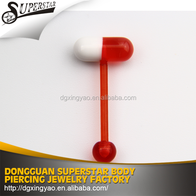 Fashionable Style cool silicone vibrating tongue barbell piercing
