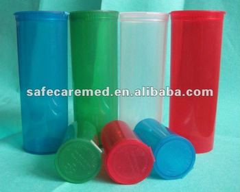 flip top plastic vial