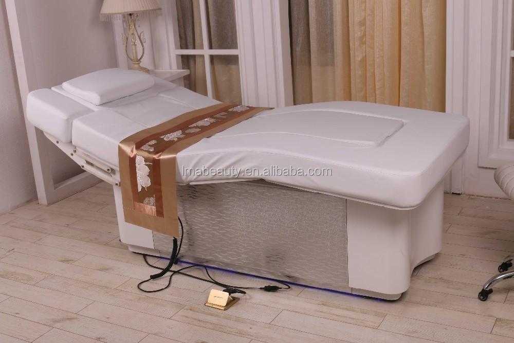 2015 luxe eau lectrique lit de massage facial table de l 39 eau spa lit pour meubles de salon de. Black Bedroom Furniture Sets. Home Design Ideas