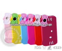 Hello Kitty silicone case for Iphone 4/4S case Custom-made silicone cover