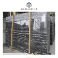 Superior design white grain veins silver dragon black marble slab price