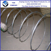 Strong anti-aging Galvanized razor spikes application Barbed Wire Coil Type